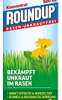 Roundup Rasen Unkrautfrei Konzentrat Spezial Unkrautvernichter zur Bekaempfung von Unkraeutern im Rasen 206x330 - Roundup Rasen-Unkrautfrei Konzentrat, Spezial-Unkrautvernichter zur Bekämpfung von Unkräutern im Rasen mit sehr guter Rasenverträglichkeit, 500 ml für 330 m²
